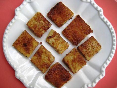 Quick Cinnamon Pancake Cubes. Photo by gailanng