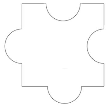 This is a free blank puzzle piece for classroom use - blank puzzle template