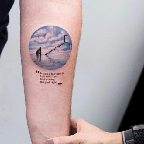 The Truman Show tattoo by Eva Krbdk