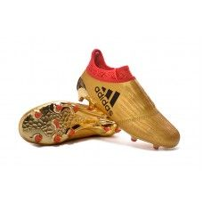55114d85f7 Adidas X 16 Purechaos FG-AG Metálico Ouro-Vermelho sapatos de futebol  baratos