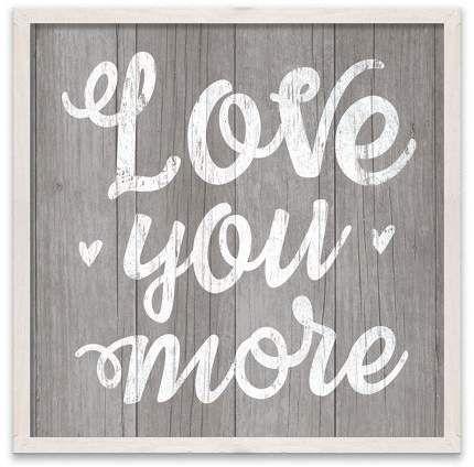 Artissimo Designs Love You More Printed Mdf Wood Box 18w X 18h X