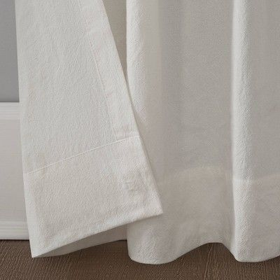 52x84 Washed Cotton Twist Tab Light Filtering Curtain Ivory Archaeo Ivory Curtains Light Filter Cotton