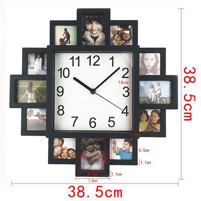 Picture 3 Of 7 Diy Clock Wall Wall Clock Modern Family Picture Frames