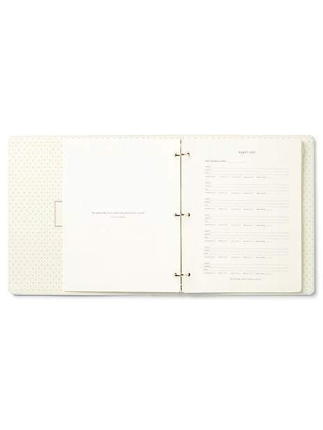 Happily Ever After Bridal Planner By Kate Spade New York Bridal Planner Planner Binder Here Comes The Bride