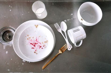 White Noise by Alyson Fox for Ink Dish dirty dishes in sink shot