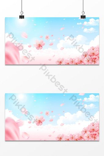 Romantic Spring Beautiful Flowers Auspicious Clouds Warm Goddess Festival Background Backgrounds Psd Free Download Pikbest In 2020 Festival Background Spring Festival Poster New Year S Eve Background