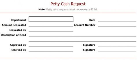 Free Petty Cash Request Form Projects to Try Pinterest - petty cash request form