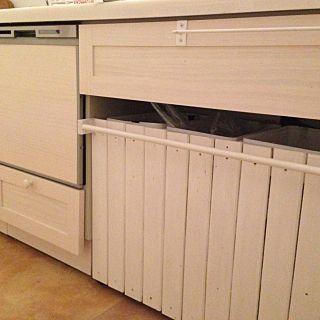 キッチン ゴミ箱カバー Diy ウッドワン スイージー Woodone などのインテリア実例 2015 01 25 15 55 05 Roomclip ルームクリップ ゴミ箱カバー ウッドワン インテリア 実例