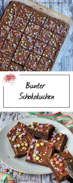 Bunter Schokokuchen | Rezept | Backen | Kuchen | Kindergeburtstag | Blechkuchen