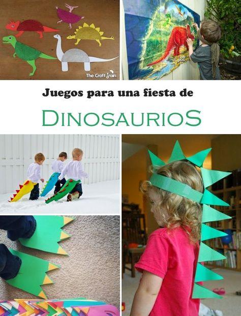 Fiesta de cumpleaños infantil, temática Dinosaurios… ¡Mira cuántas ideas para decorar, jugar, comer,...