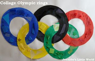 Olympic crafts - Collage Olympic rings