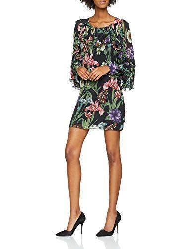 Abito Kleid Charme Dress Guess Lara Corto Mehrfarbigflower Damen WDE92IH