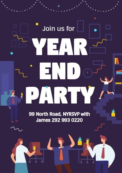 How To Design A Year End Party Invitation Click For More