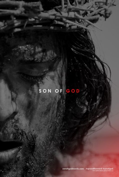 Son of God Movie Poster.  At least they used an actor with brown eyes.  Many of the extras are middle eastern.