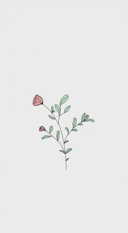 Flowers Background Tumblr Tattoo Ideas 64 Best Ideas Minimalist Wallpaper Aesthetic Iphone Wallpaper Apple Wallpaper Iphone