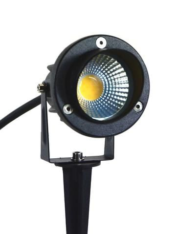 Led Black Garden Spotlight Outdoor 12v 5w Spike Or Surface Mounted Ip65 3000k 3a 3a33 Industrial Style Lighting Industrial Lighting Industrial Light Fittings