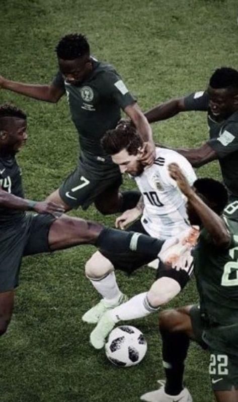 Lionel Messi Argentyna vs Nigeria