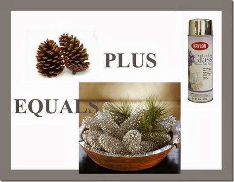 Give Pine Cones a Whole New Look for The Holidays