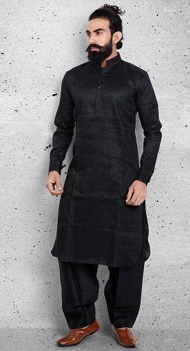 Mens Pathani Kurta Set Cotton Plus Size Kurta Pyjama Party Wear Dress Indian Traditional Pathani Eid Kurta with Salwar