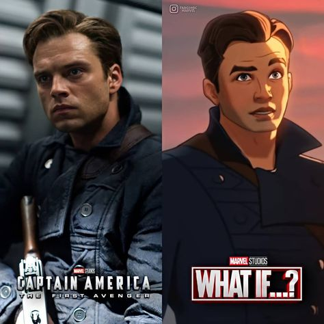 "Fancomic/Marvel on Instagram: ""Bucky en What If ? con el look de Capitán America el primer Vengador . ▫ ▫ Sigueme @fancomic_marvel  ▫ ▫ Comenta 💬  Like� Comparte↪ ▫ ▫ ▫ ▫…�"