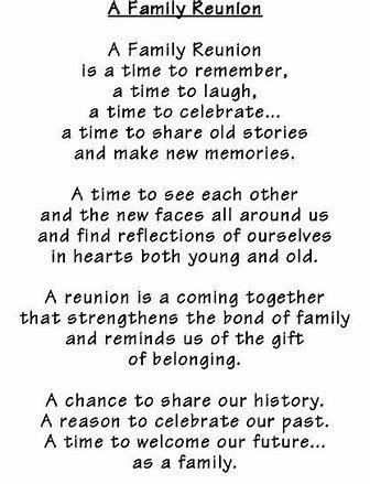 Image result for Family Reunion Memorial Tribute Poems