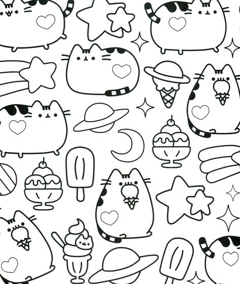4e0e1d9eda781a9e0c3d1a8d490d1e8e kawaii coloring pages pusheen coloring pages