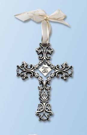 Amazon.com: 25th Anniversary Cross Ornament - Traditional 25th Wedding Anniversary Gift Idea: Home & Kitchen
