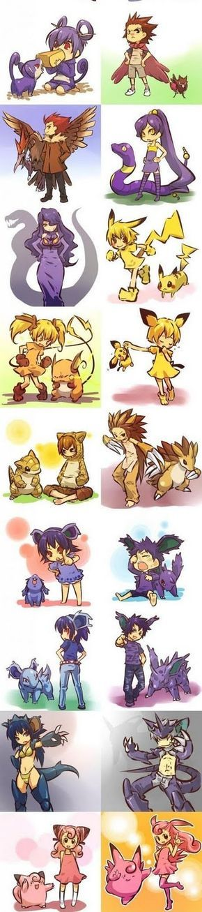 Ooh pokemon as people. It's really fun to look at what people come up with for these!