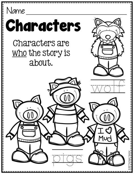 Simple Story Elements Made Practical And Fun Little Pigs Character Worksheets Three Little Pigs Story Three little pigs worksheets
