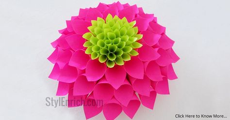 Paper Flowers How To Make Paper Dahlia Flower Paper Flowers