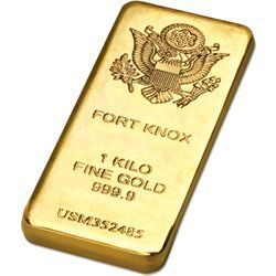 Gold Plated Fort Knox Bar Replica They Ll Be Amazed When You
