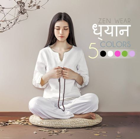 5f990d5f51745 Free Shipping - Women Indian Zen Clothes for Yoga, Tai Chi, Meditation, Home  loungewear