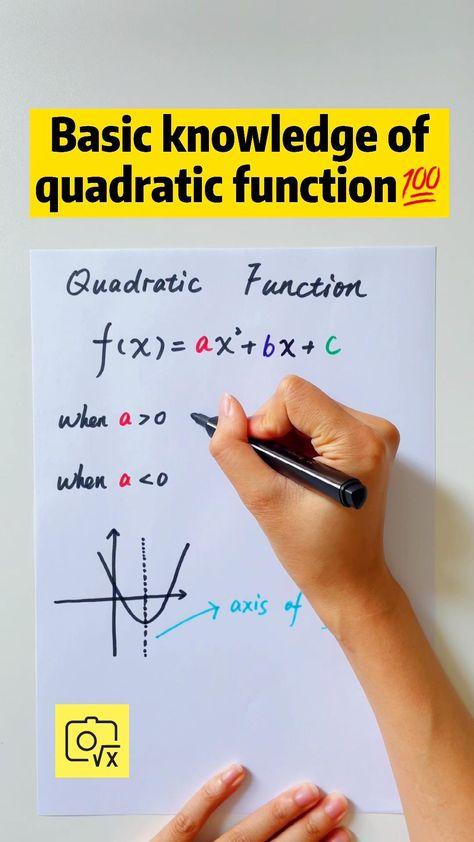 Basic knowledge of quadratic function📖 #mathlessons #mathematics #9grade