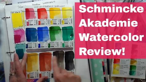 Schmincke Akademie Watercolor Review The Frugal Crafter