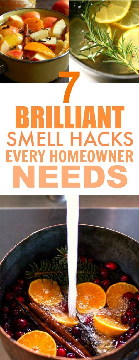 These 7 Genius Smell Hacks are THE BEST! They really are easy and they smell GREAT! I'm so happy I found this, I know my home is going to smell SO GOOD. Definitely pinning for later!
