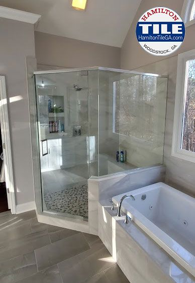 This Master Bathroom Is Located In Milton Ga And It S A True
