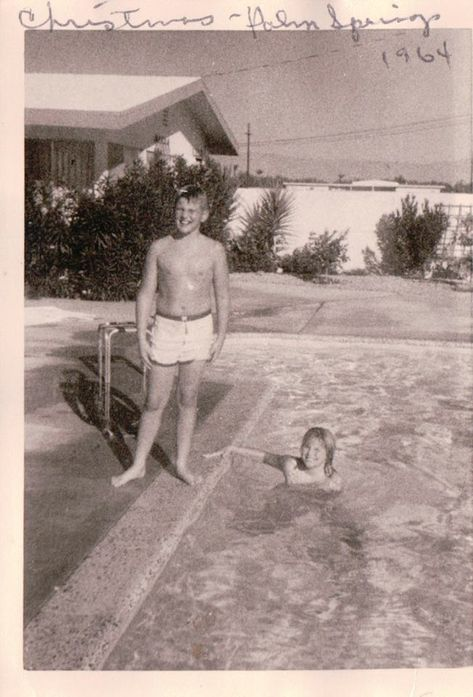Christmas in the pool. Christie Brinkley at 10 years old California dreamin'........
