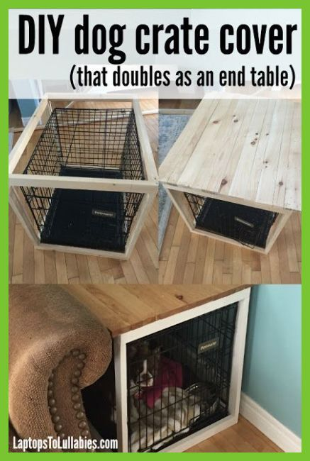 Laptops To Lullabies Diy Dog Crate Cover Dog Kennel Ideas Awesome Dog House Plans With P In 2020 Diy Dog Crate Dog Crate Cover Diy Dog Stuff