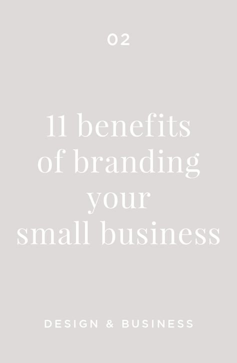 11 Benefits of Branding Your Small Business — Lisa Cron Design | Thoughtfully Crafted Brand Design for Small Businesses