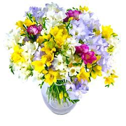 Flowers Delivered Next Day Free Uk Flower Delivery Order Online With Clare Florist Spring Freesia Flowers Beautiful Bouquet Of Flowers Flowers Delivered