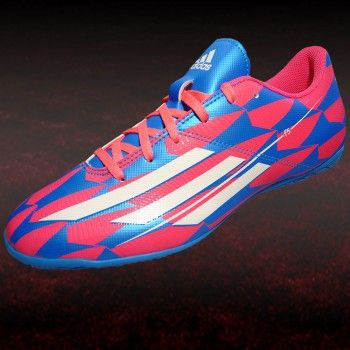 Adidas F5 In Herren Hallenschuh Blau Pink