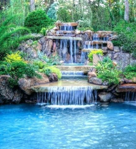 Luxury Pools With Waterfalls Pool Waterfall Luxury Swimming