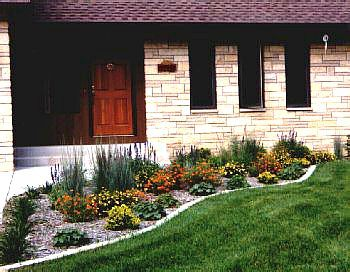Easy Front Yard Landscaping | My Front Yard Garden With Ladyu0027s Mantle ,  Coreopsis , Little Bluestem ... | Landscaping | Pinterest | Front Yards,  Yards And ...