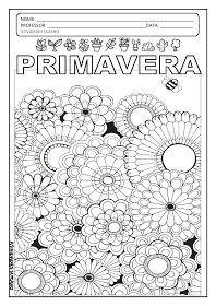 Atividades Pedagogica Suzano Desenhos Para Colorir Primavera