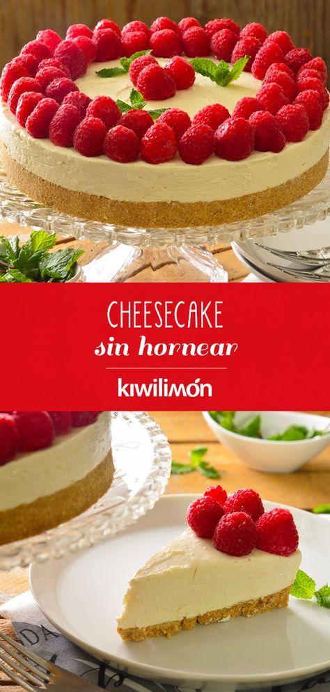 Cheesecake Sin Hornear Receta Recetas De Postres Sin Horno Reposteria Recetas Pasteles Deliciosos