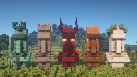 I built 5 new Villager Statue designs! [Including Tutorial] : Minecraftbuilds - Minecraft, Pubg, Lol and Minecraft Building Blueprints, Minecraft Plans, Minecraft Survival, Minecraft Tutorial, Minecraft Elevator, Minecraft Earth, Minecraft Stuff, Minecraft Cake, Minecraft Mansion