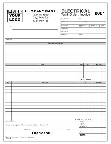 Electrical Contractor Invoice Form Invoice Template Word Money