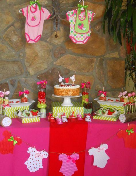 Strawberry Baby Shower #babyshower #strawberry