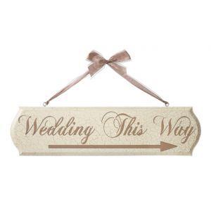 'Wedding This Way' Arrow Wall Plaques