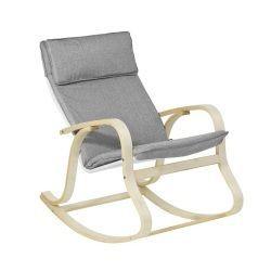 Rocking Chair Fauteuil A Bascule Fauteuil Relax Bouleau Flexible Gris Fst15 Dg Sobuy Fauteuil A Bascule Fauteuil Relax Fauteuil Allaitement